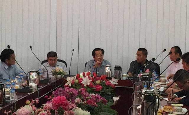 缅甸华商商会热烈欢迎中国云南省临沧市商务局访缅代表团