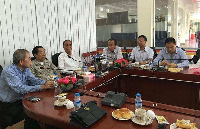 缅甸中华总商会热烈欢迎中国全国人大常委会委员民建中央张少琴副主席为团长的一行(6)位访缅代表团