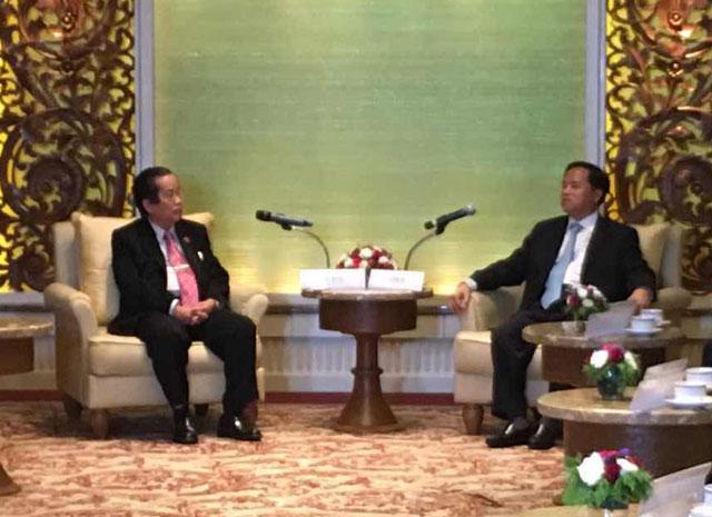 海南省人民政府 省长 刘赐贵 先生率领(20)位代表团访问缅甸中华总商会