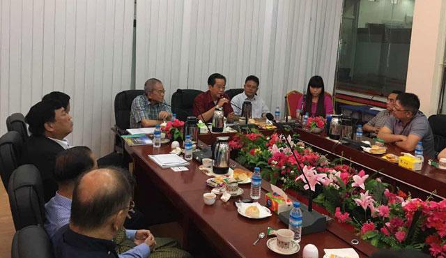 缅甸中华总商会欢迎施甸县经贸合作与交流代表团来访