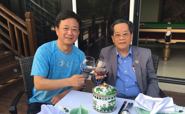 缅甸中华总商会吴继垣会长在北京会见著名主持人朱军