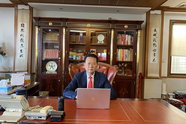 缅甸中华总商会林文猛会长应邀出席中国-东盟(青岛)经贸对接视频连线会议