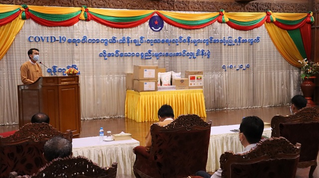 缅甸中华总商会参加捐赠防控物资活动