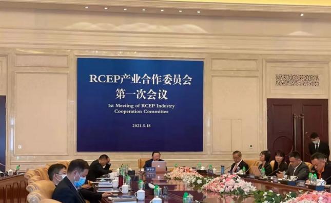 缅甸中华总商会林文猛会长出席在线RCEP产业合作委员会第一次会议
