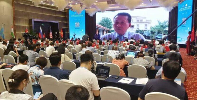 缅甸华人华侨杰出代表 海外华文教育杰出人士 爱国华人/慈善家 缅甸中华总商会会长 RCEP产业合作委员会缅甸方执行主席 林文猛